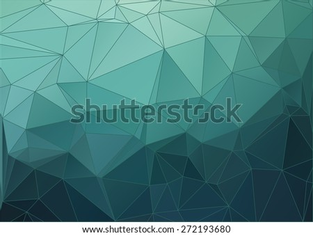 Blue abstract polygonal background for your web design - stock vector