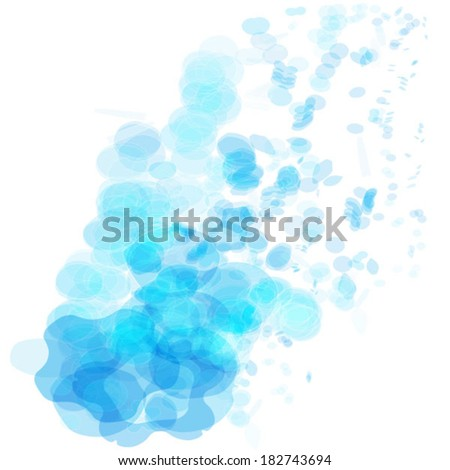 blue abstract shape