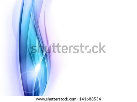 blue abstract shapes on the white - stock vector