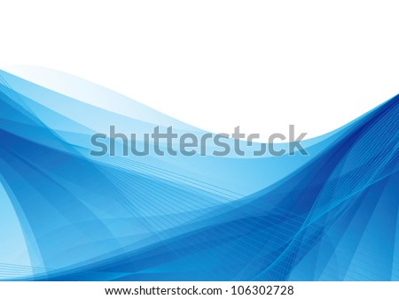 Blue abstract soft vector background - stock vector