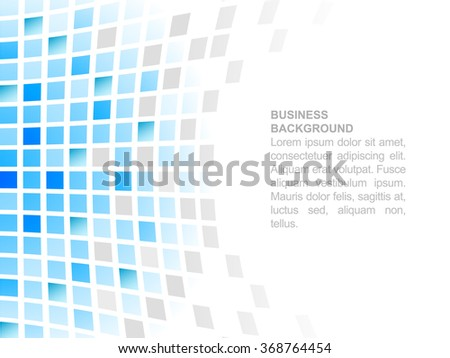 Blue abstract square mosaic business background/vector illustration with place for your text or creative editing.