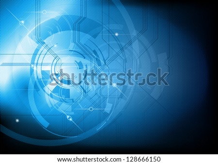 blue abstract tech background - stock vector