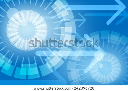 blue Abstract technology background - stock vector