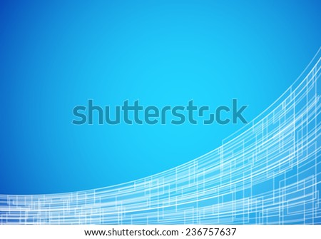 Blue abstract technology background with stripes