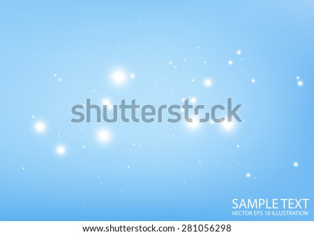 Blue abstract vector sparkle background  illustration - Vector shiny abstract blue spark   template - stock vector