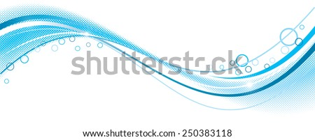 Blue abstract wave - stock vector