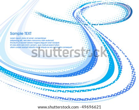 blue abstract wave line background. Vector