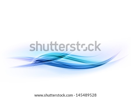 blue abstract wave on the white - stock vector