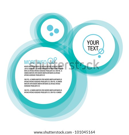 Blue Abstract Web Bubble Background - stock vector