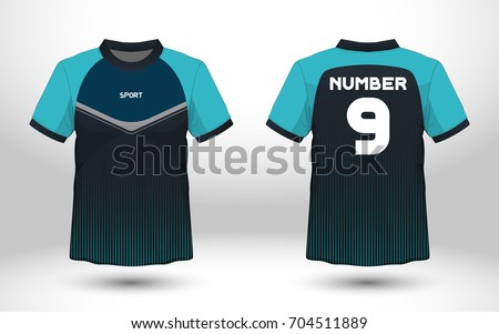 Blue black layout football sport tshirt stock vector for Stock t shirt designs