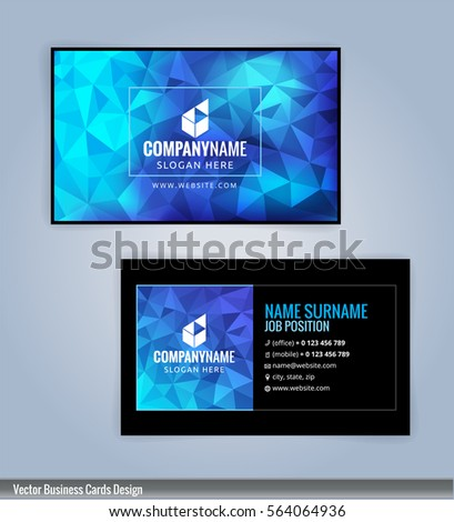 Blue black modern business card template stock vector hd royalty blue and black modern business card template illustration vector 10 reheart Choice Image