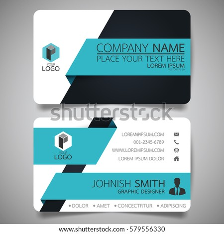 Blue black modern creative business card stock vector 2018 blue and black modern creative business card and name cardhorizontal simple clean template vector colourmoves