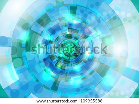 Blue and cyan circles - stock vector