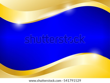 Blue Gold Background Vector Graphic Design Stock Vector
