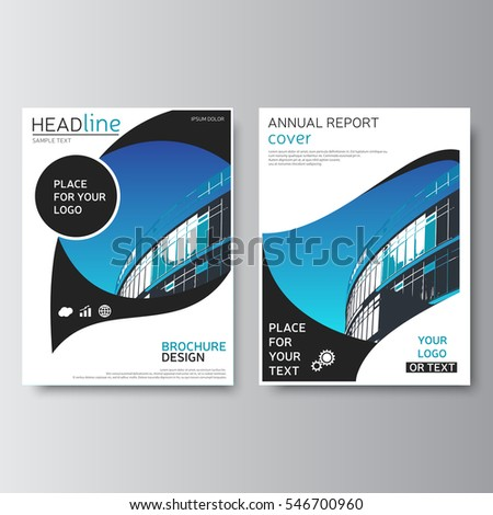 Blue Gray Annual Report Cover Brochure Stock Vector Hd Royalty Free