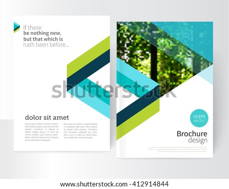 blue and green Brochure, leaflet, flyer, poster template. stock-vector abstract background. EPS 10 - stock vector