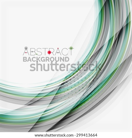 Blue and green color abstract waves, abstract background - stock vector