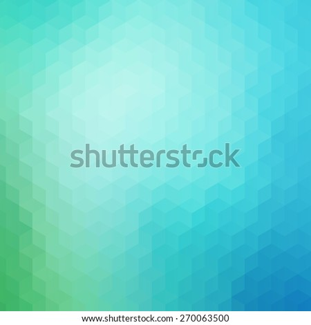 Blue and green colored geometric pattern background - stock vector