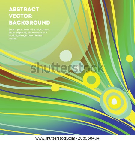 Blue and green line abstract vector background. Eps 10 illustration.  - stock vector