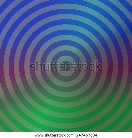 Blue and green metallic background design with concentric circles - stock vector