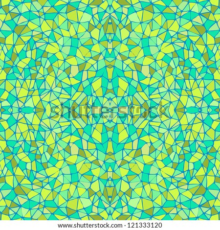 Blue and Green Seamless Abstract Pattern - stock vector