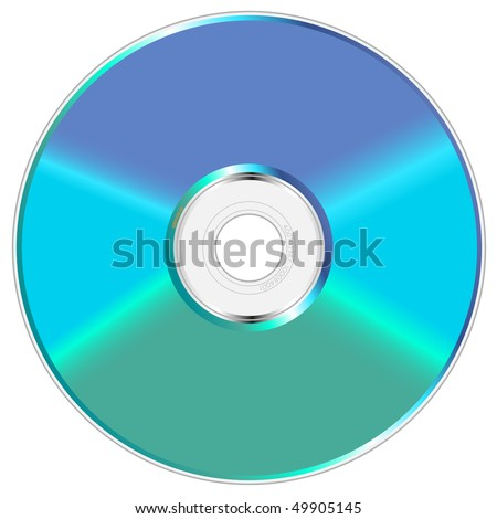 Blue and green shiny compact disc vector illustration. - stock vector