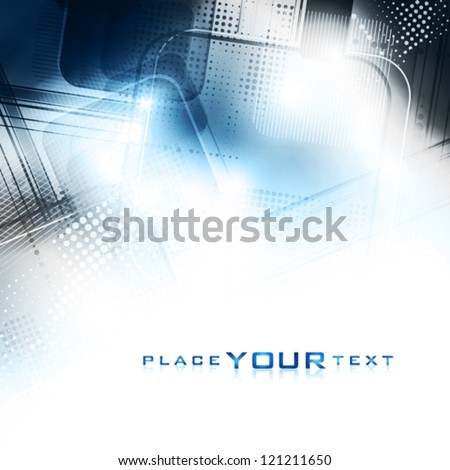 Blue and grey abstract digital background. Vector - stock vector