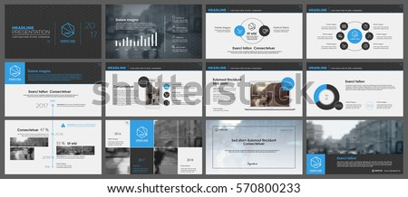 Blue and grey elements for infographics on a white background. Presentation templates. Use in presentation, flyer and leaflet, corporate report, marketing, advertising, annual report, banner.