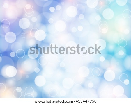 blue and pastel Soft color bokeh romantic abstract background