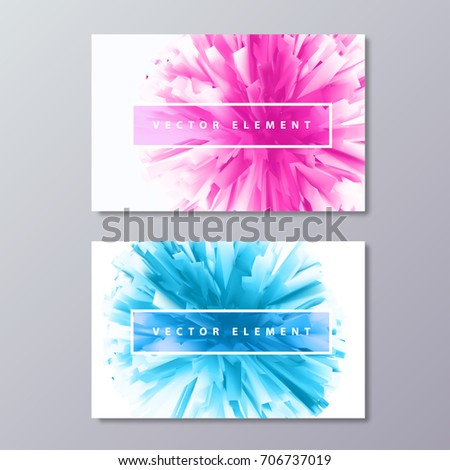 Blue pink abstract female design business stock vector 2018 blue and pink abstract female design business cards artificial unreal flower background symbolized success colourmoves