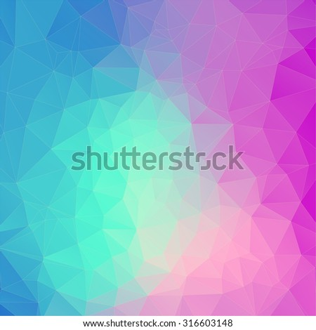 Blue and pink polygonal background for your web design - stock vector