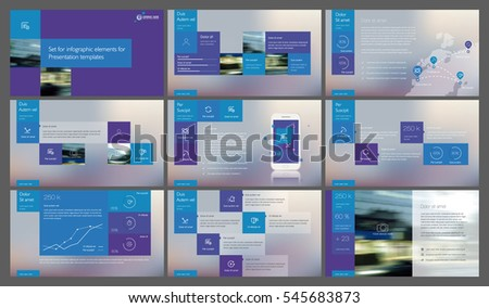 Blue and purple elements for infographics on a gradient background. Presentation templates. Use in presentation, flyer and leaflet, corporate report, marketing, advertising, annual report, banner.