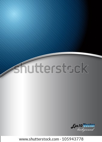 Blue and silver elegant abstract background - stock vector