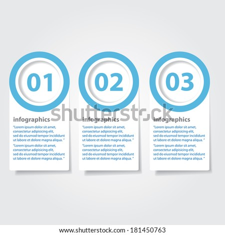 blue and white progress paper banners / can be used for infographics / numbered banners / horizontal cutout lines / graphic or website layout vector