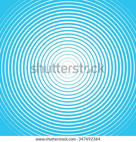 Blue and white rings. Sound wave wallpaper. Radio station signal. Circle spin vector background. Line texture. Target - stock vector