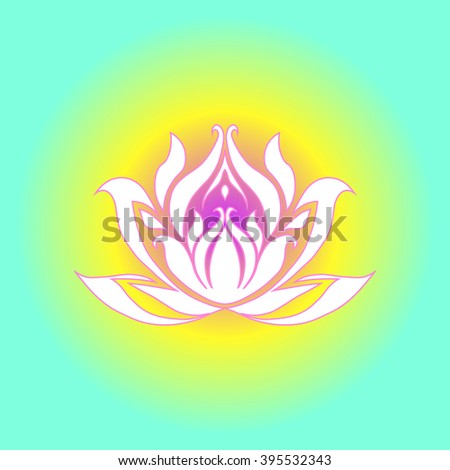 Blue yellow floral background exotic white stock vector 395532343 blue and yellow floral background with exotic white flower in vector white water lily vector mightylinksfo