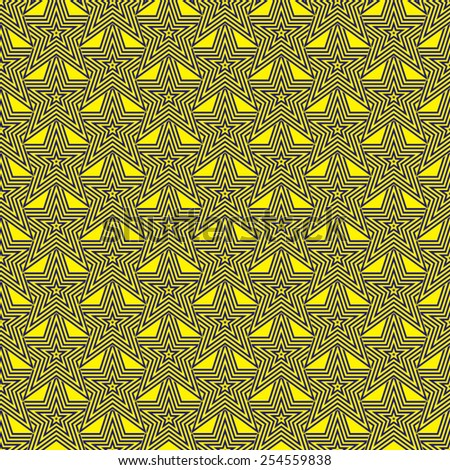 Blue and yellow star design for abstract seventies background - stock vector