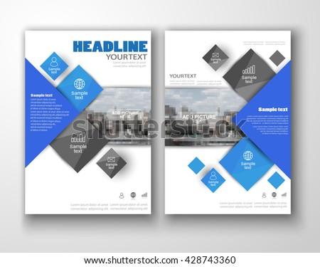 Blue annual report brochure flyer design stock vector 428743360 blue annual report brochure flyer design template flyer template for business education presentation saigontimesfo