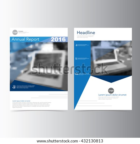 Blue annual report Brochure Flyer Leaflet  template vector A4 size design, book cover layout design, Abstract presentation
