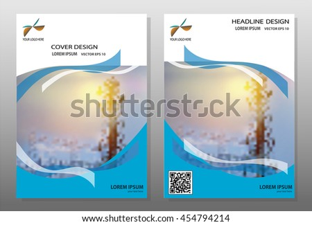 Blue annual report brochure,Modern flyer design template illustration vector, Leaflet cover presentation abstract background,Headline baackground, layout in A4 size