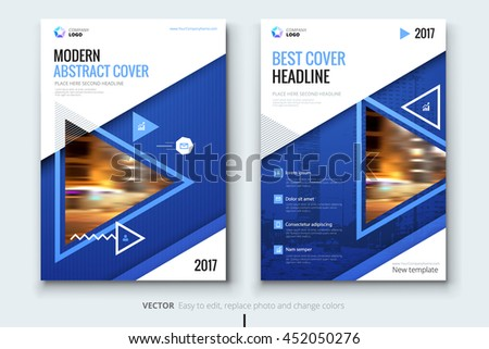 Blue Annual Report Design Corporate Business Stock Vector ...