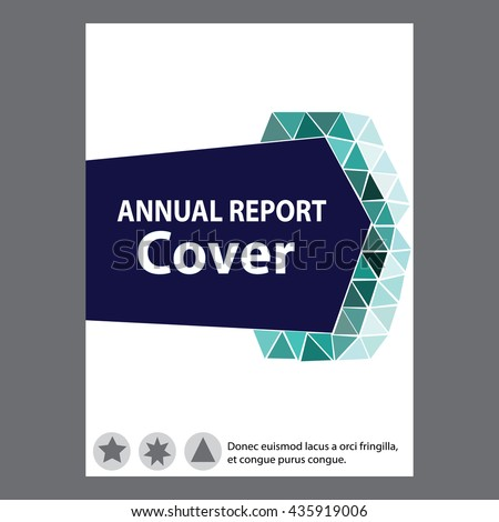 Blue Annual Report Title Page Sample Stock Vector 435919006