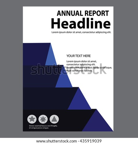 Blue Annual Report Title Page Sample Stock Vector 435919039