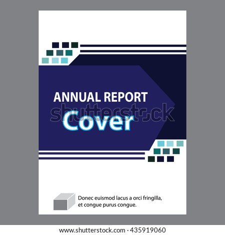 Blue Annual Report Title Page Sample Stock Vector 435919048