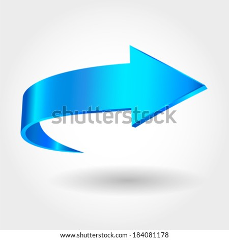 Blue arrow - stock vector