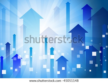 Blue Arrow Background Original Vector Illustration EPS10
