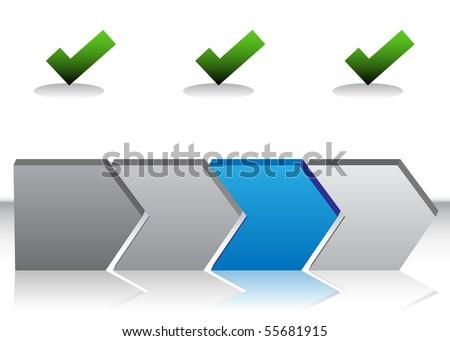 Blue Arrow Chart - stock vector