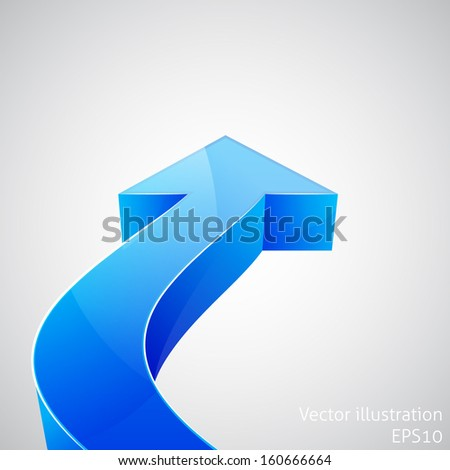 Blue arrow. Vector illustration - stock vector