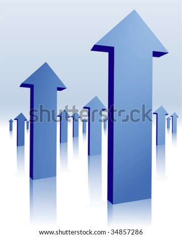 blue arrows - stock vector