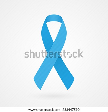 Blue awareness ribbon - stock vector